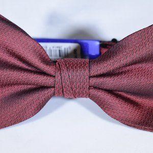 Apt. 9 NWT Bow Tie Red Herringbone Pattern